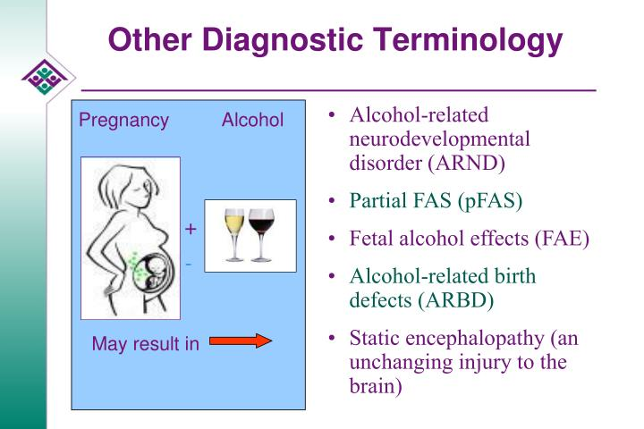alcohol related birth defects in the 1990s More recently, alcohol exposure in utero has been linked to a variety of other neurodevelopmental problems, and the terms alcohol-related neurodevelopmental disorder and alcohol-related birth defects have been proposed to identify infants so affected.