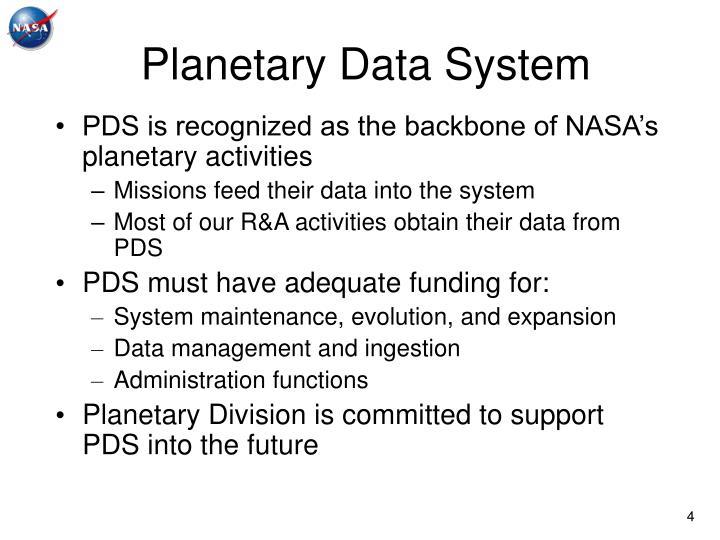 Planetary Data System
