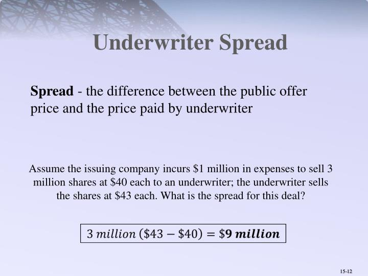 Underwriter Spread