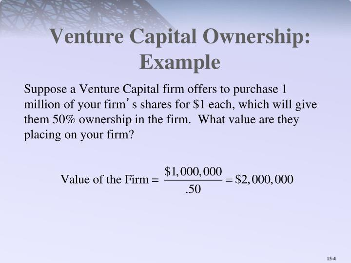 Venture Capital Ownership: Example