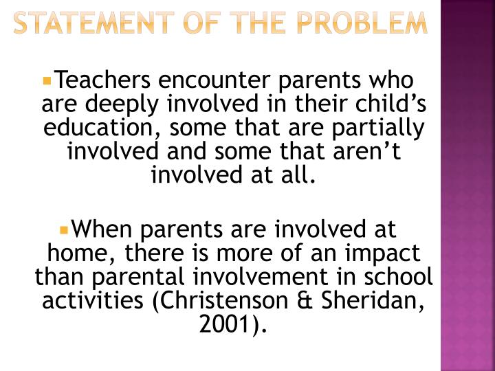 parental involvement and motivation in philippine setting Parental involvement continues to be the most influential factor in student achievement and motivation students whose parents are and establish their own set of.