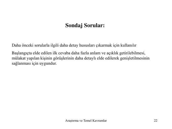Sondaj Sorular: