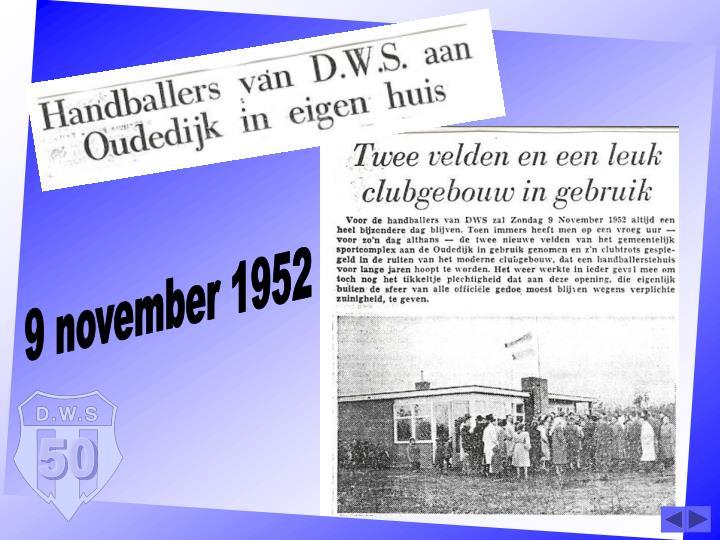 9 november 1952