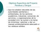 objetivos espec ficos del proyecto residuos y dengue1