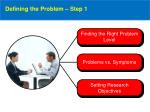 defining the problem step 1
