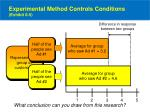 experimental method controls conditions exhibit 8 5