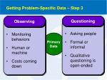 getting problem specific data step 3