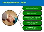 solving the problem step 5
