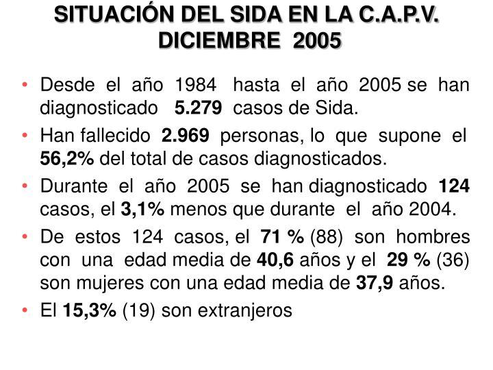 Situaci n del sida en la c a p v diciembre 2005