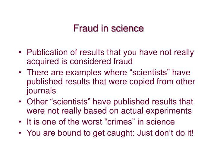 Fraud in science