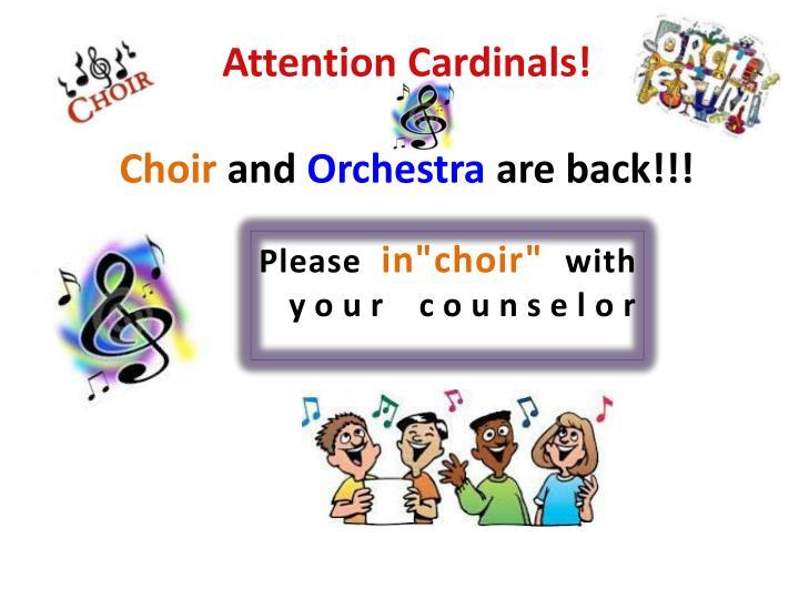 Attention Cardinals!