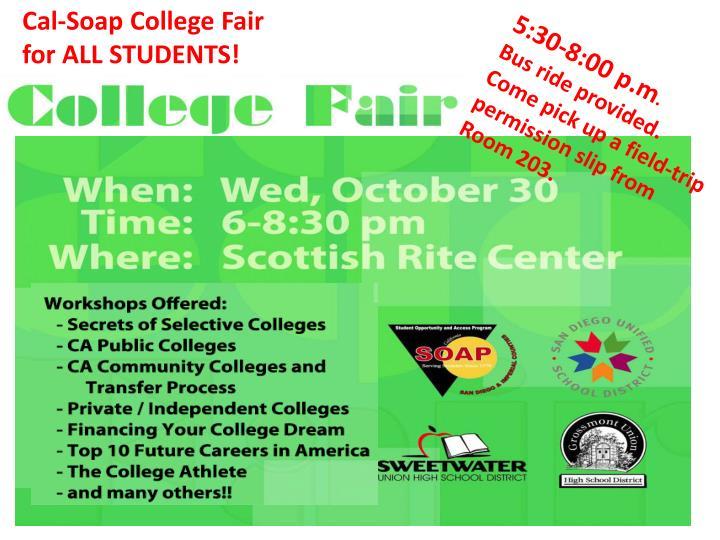 Cal-Soap College Fair
