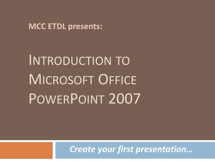 introduction to microsoft office powerpoint 2007 n.