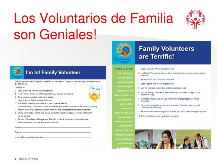 Los voluntarios de familia son geniales