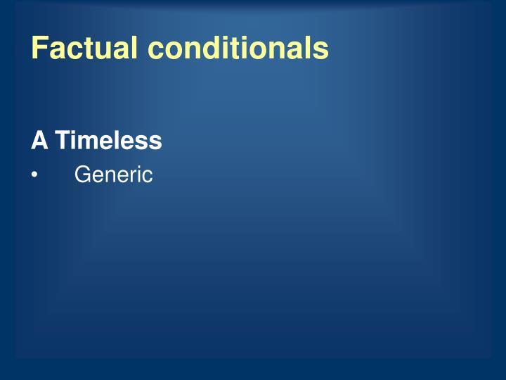 Factual conditionals