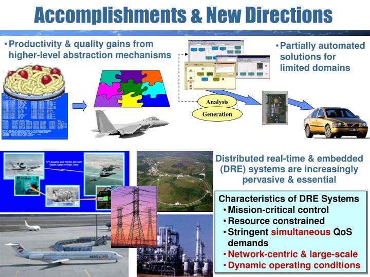 Accomplishments new directions