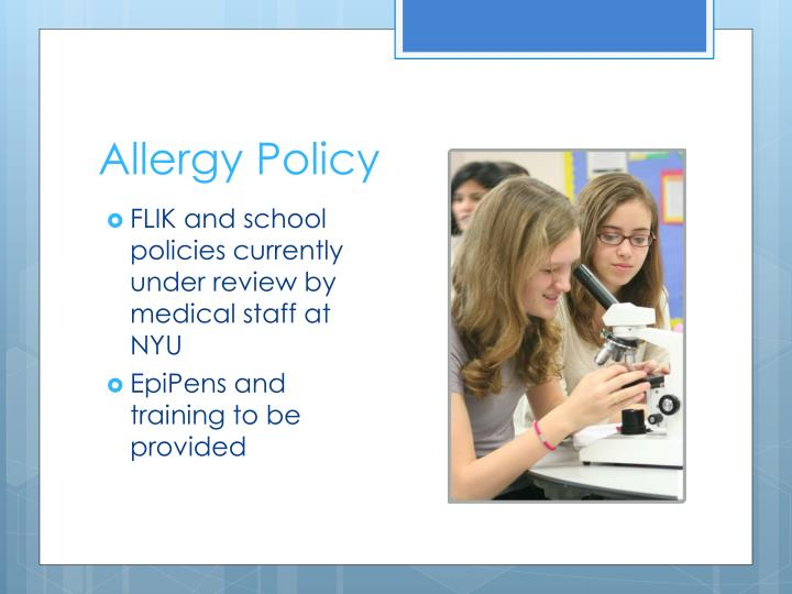 Allergy Policy
