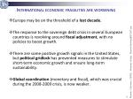 international economic fragilities are worsening
