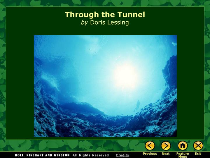 an analysis of rite of passage in through the tunnel by doris lessing The tunnel by doris lessing hasdorg, through the tunnel 1 through the tunnel by doris lessing going to the shore on the first morning of.