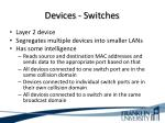 devices switches