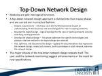 top down network design2