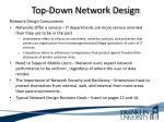 top down network design5