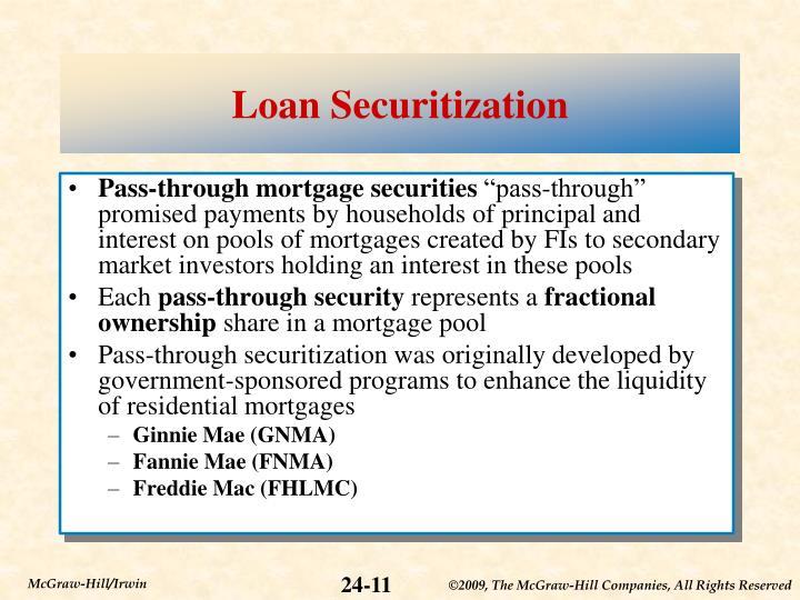 Loan Securitization