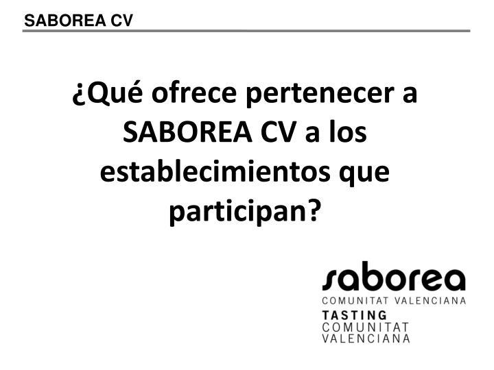 SABOREA CV