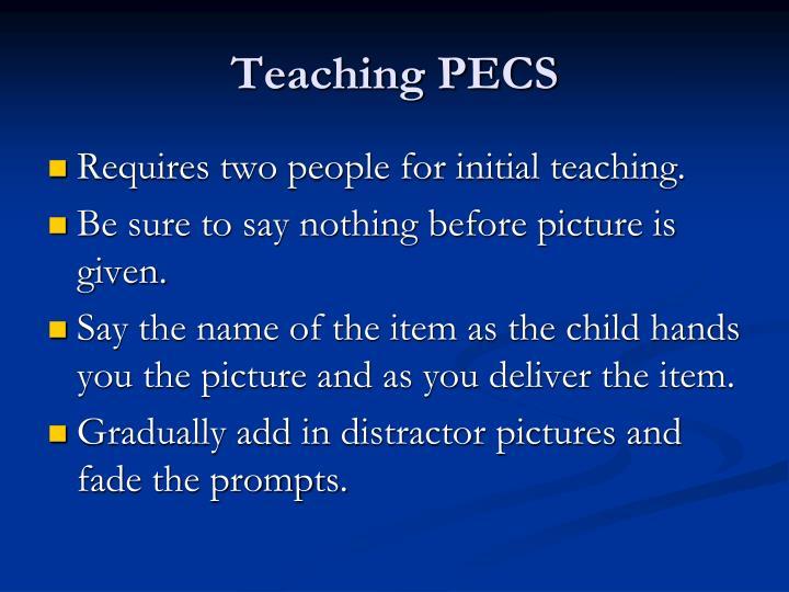Teaching PECS