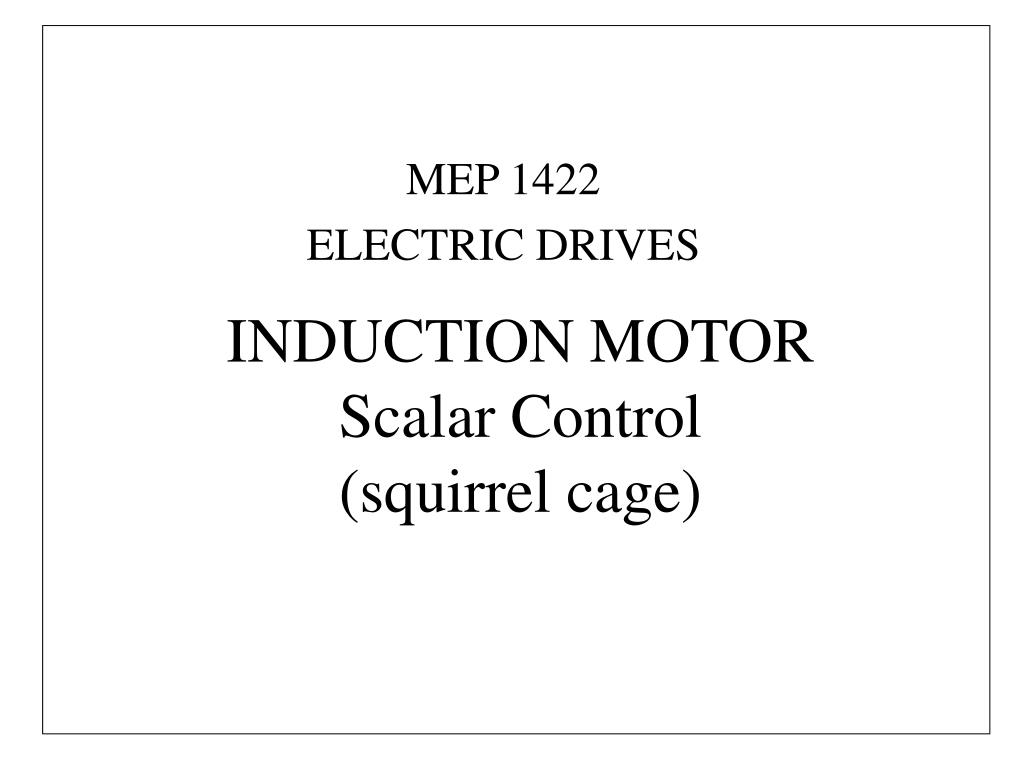 induction motor scalar control squirrel cage n.