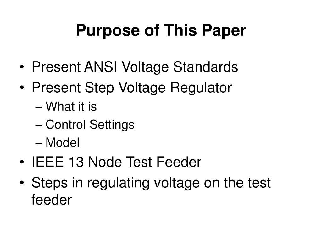 PPT - Distribution Feeder Voltage Regulation and Control