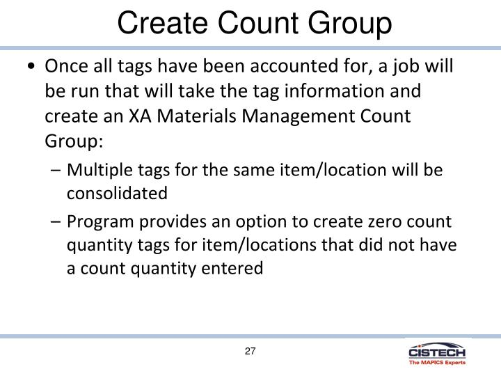 Create Count Group