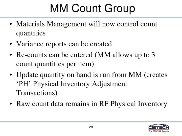MM Count Group