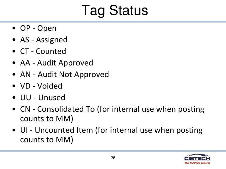 Tag Status