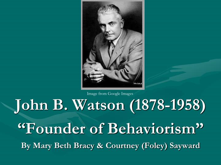 john b watson 2 essay Essay behaviorism - 1913 john watson and over other 29,000+ free term papers page 1 of 2 in 1913 john watson watson, j b (1913)psychology as.