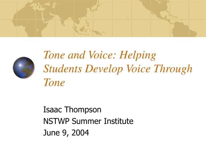 tone and voice helping students develop voice through tone n.