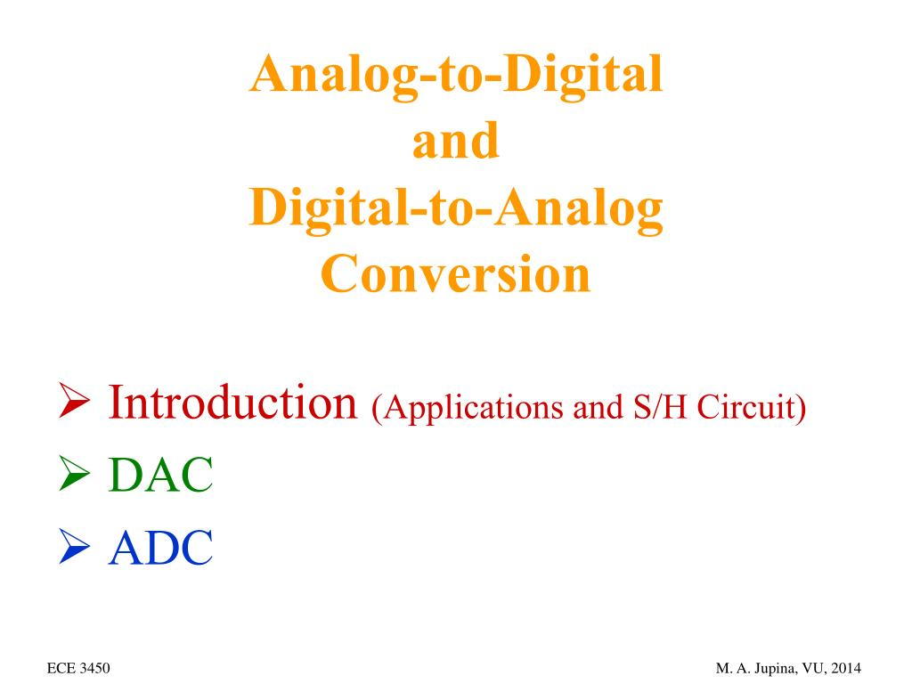 Ppt Analog To Digital And Conversion Powerpoint R 2r Ladder Dac Circuit Diagram N