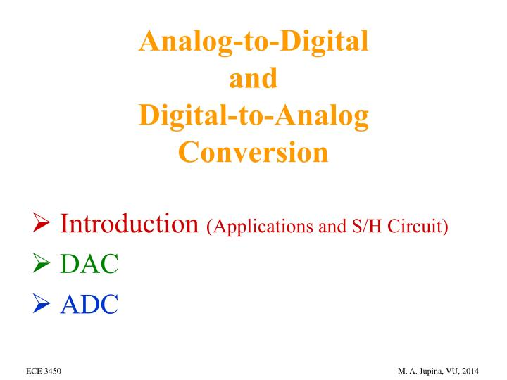 analog to digital and digital to analog conversion n.