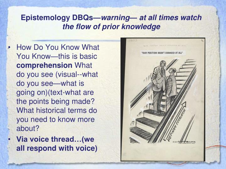 Epistemology DBQs—