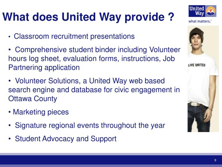 What does United Way provide ?