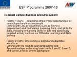 esf programme 2007 13