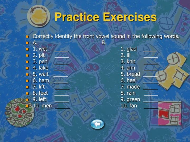 Practice Exercises
