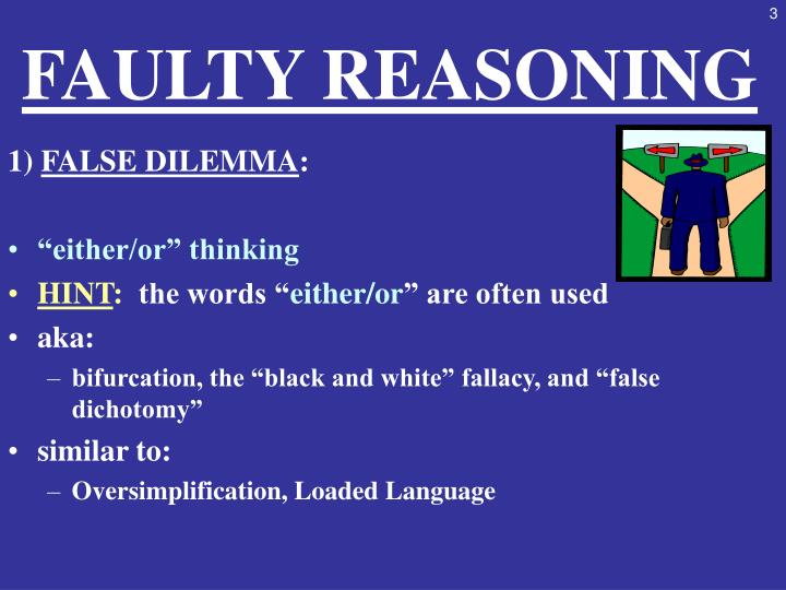 PPT - IV. FAULTY REASONING PowerPoint Presentation - ID ...