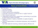 non incentives