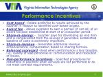 performance incentives