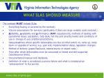 what slas should measure