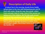 description of daily life