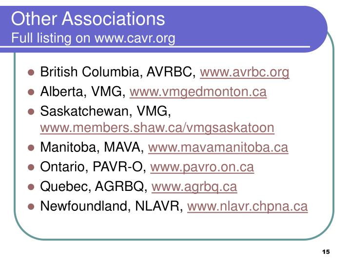 Other Associations
