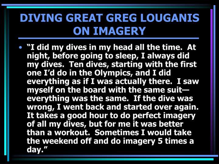 DIVING GREAT GREG LOUGANIS