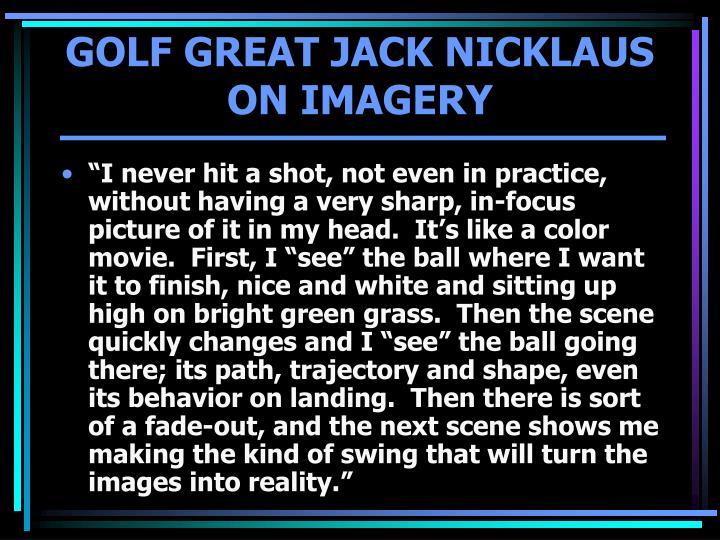 GOLF GREAT JACK NICKLAUS